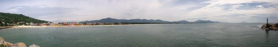 Panoramic view of Barra da Lagoa in Florianopolis-SC, Brazil Royalty Free Stock Photo