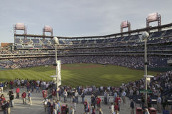 Panoramic view of baseball fans Royalty Free Stock Photos