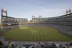 Panoramic view of baseball fans Royalty Free Stock Images