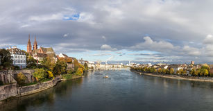 Panoramic view of Basel, Switzerland Stock Photography