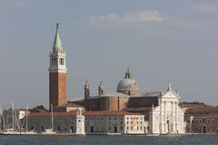 Panoramic view of Basilica of San Giorgio Maggiore in Venice, It royalty free stock photos