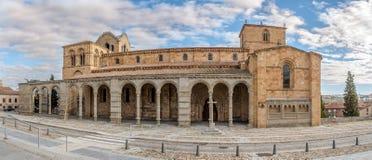 Panoramic view at the Basilica San Vincente of Avila Royalty Free Stock Photos