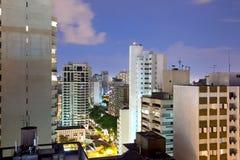 Panoramic view of Batel neighborhood in Curitiba Stock Photography