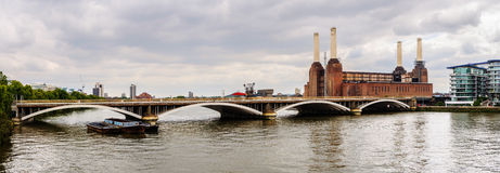 Panoramic view of Battersea Power Station Royalty Free Stock Images
