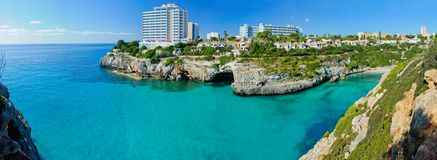 Panoramic View of Bay Majorca Royalty Free Stock Photo