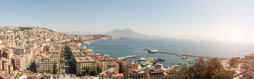 Panoramic view of the Bay of Naples Royalty Free Stock Photos