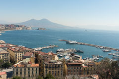 Panoramic view of the Bay of Naples Royalty Free Stock Image
