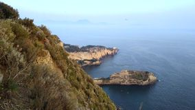 panoramic view of the Bay of Naples stock video footage