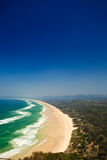 Panoramic View of Beach in Byron Bay, NSW, AU Royalty Free Stock Photo