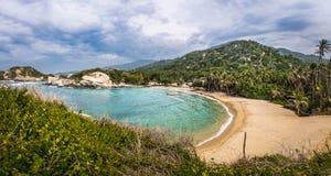 Panoramic view of Beach at Cabo San Juan - Tayrona Natural National Park, Colombia Stock Photography