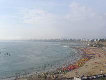 Panoramic view of a beach in Chorrillos, Lima Stock Photography