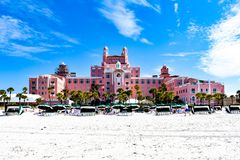 Panoramic view from the beach of The Don Cesar Hotel. The Legendary Pink Palace of St. Pete Beach 2