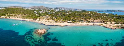 Panoramic view of the Beach of Kavouri, Athens Stock Images