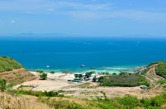 Panoramic view on the beach in Koh Lan Island Royalty Free Stock Photos
