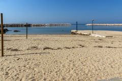 Panoramic view of Beach of Limenaria, Thassos island, Greece Royalty Free Stock Photos