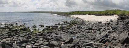 Panoramic view of beach in Punta Suarez Stock Image