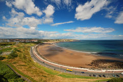 Panoramic View of The Beach of Scarborough Royalty Free Stock Image