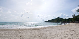 Panoramic view of a beach Stock Images