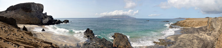 Panoramic view of the beaches on the islet of Djeu Royalty Free Stock Photos