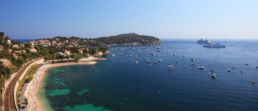 Panoramic view of a beatufil bay. Stock Image