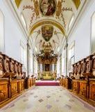 Panoramic view of beautiful baroque church interior Stock Image