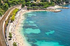 Panoramic view on the beautiful beach Stock Photo