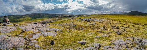 Panoramic view of beautiful Icelandic Landscape, Iceland. Summer time Stock Photography