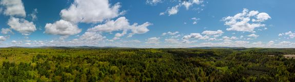 Panoramic view of beautiful landscape Pocono Mountains royalty free stock photography