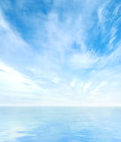 Panoramic view of the beautiful sea and the sky Royalty Free Stock Photos