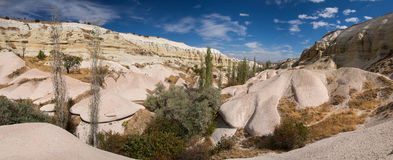 Panoramic view at the beautiful valley in Cappadocia Stock Photography