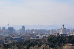 Panoramic view of Beijing, China royalty free stock image