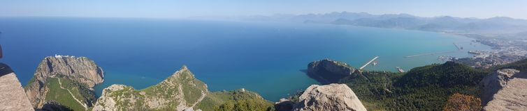 Panoramic view from Bejaia, Algeria. Panoramic view of Bejaia Bejaia,Algeria royalty free stock photos