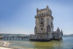 Panoramic view of  Belem Tower, Lisbon, Portugal, Europe Stock Photography