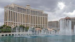 Panoramic view of Bellagio resort - luxury hotel and casino on the Las Vegas Strip royalty free stock image