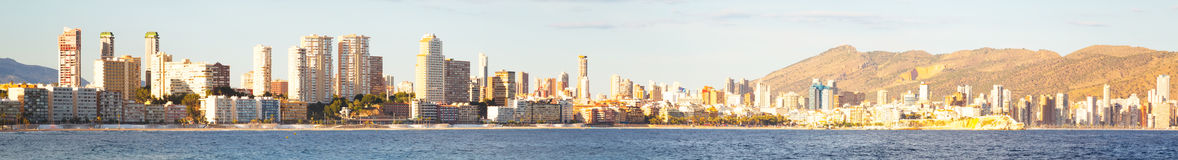 Panoramic view of Benidorm Stock Photos
