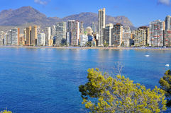 Panoramic view of Benidorm, in Spain Stock Image