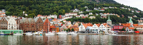 Panoramic view of Bergen, Norway Royalty Free Stock Photos