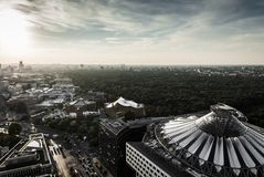 Panoramic view of Berlin Stock Photography