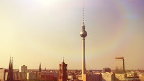 Panoramic view on Berlin Royalty Free Stock Images