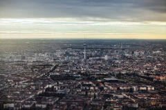 Panoramic view of Berlin TV Tower. Panoramic views over Berlin Television tower view Royalty Free Stock Photography