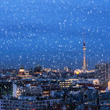 Berlin in winter Royalty Free Stock Image