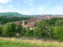 Panoramic View of Old City, Bern - Switzerland stock photography