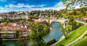 Panoramic view of Bern Stock Images