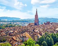 Panoramic view of Berne, Switzerland Royalty Free Stock Photography