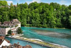 Panoramic view of Berne, Switzerland Stock Images