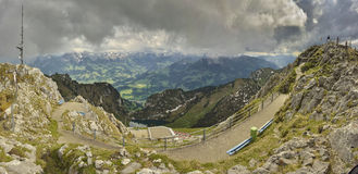 Panoramic view of Berner Oberland Royalty Free Stock Photo