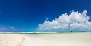 Panoramic view of best tropical beach in the world Royalty Free Stock Photos