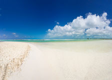 Panoramic view of best tropical beach in the world Stock Photo