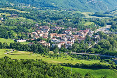 Panoramic view of Bettola. Emilia-Romagna. Italy. Royalty Free Stock Image