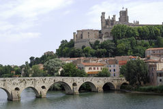 Panoramic view of Beziers (France) Royalty Free Stock Photography
